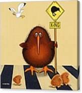 Kiwi Birds Crossing Canvas Print