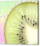 Kiwi Splash Canvas Print