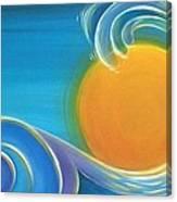 Kiwiana Surf Sun Canvas Print