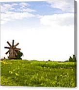 Kizhi Island Windmill Russia Canvas Print