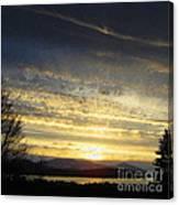 Klamath Lake Sunset Canvas Print