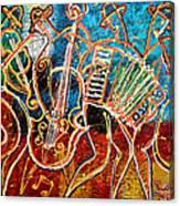 Klezmer Music Band Canvas Print