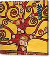Klimt Study Tree Of Life Canvas Print