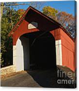 Knecht's Covered Bridge In October In Bucks County Pa Canvas Print