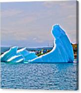 Kneeling Before The Queen Iceberg In Saint Anthony-newfoundland  Canvas Print