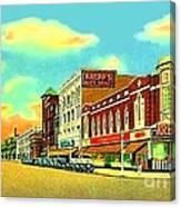 Knepp's And Kresge's Stores On Washington Av. In Bay City Mi 1940 Canvas Print