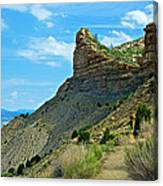 Knife Edge Road Overlooking Montezuma Valley In Mesa Verde National Park-colorado  Canvas Print