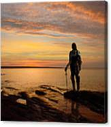 Knight At Sunrise Canvas Print