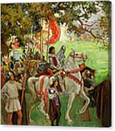 Knights Assembling, From Sir Nigel Canvas Print