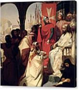 Knights Of The Order Of St John Of Jerusalem Restoring Religion In Armenia Canvas Print