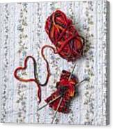Knitted With Love Canvas Print