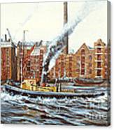Knocker White Sailing Down River Past Rotherhithe Canvas Print