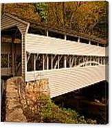 Knox Bridge In Autumn Canvas Print