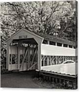 Knox Covered Bridge In Sepia Canvas Print
