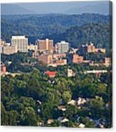 Knoxville Skyline In Summer Canvas Print