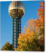 Knoxville Sunsphere In Autumn Canvas Print