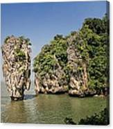 Ko Tapu Island In Thailand Canvas Print
