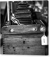 Kodak Folding Autographic Brownie 2-a Black And White Canvas Print
