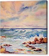 Kohala Coast Surf Canvas Print