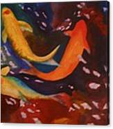 Koi In Deep Water Canvas Print