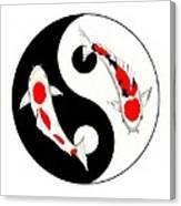Koi Kohaku And Taisho Sanke Yin Yang Painting Canvas Print