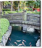 Koi Pond In Senso-ji Temple Grounds Canvas Print