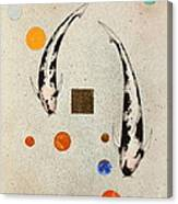 Koi Universe Utsuri Mono Painting Canvas Print
