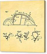 Komenda Vw Beetle Body Design Patent Art 1942 Canvas Print