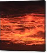 Kona Sky On Fire  Canvas Print