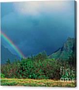 Koolau Mountains And Rainbow Canvas Print