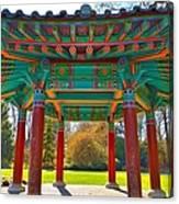 Korean Pavilion At Vandusen Botanical Garden Canvas Print