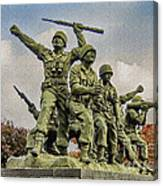 Korean War Veterans Memorial South Korea Canvas Print
