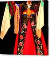 Korean Woman Dancer Canvas Print
