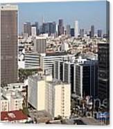 Koreatown Area Of Los Angeles California Canvas Print
