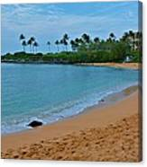 Kpalua Bay Beach Canvas Print