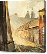 Krakow- Kanonicza Street Canvas Print