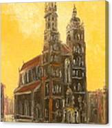 Krakow - Mariacki Church Canvas Print