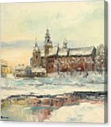Krakow - Wawel Castle Winter Canvas Print
