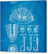 Kramer Bowling Bowl Finger Hole Insert Patent Art 1949 Blueprint Canvas Print