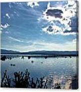 Krbava Field Of Lika Blue Lake Canvas Print