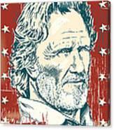 Kris Kristofferson Pop Art Canvas Print
