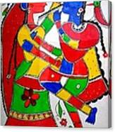 Krishna And Radha Canvas Print