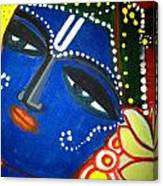 Krishna Folk Art  Canvas Print