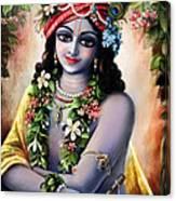 Krishna -forest Boy Canvas Print