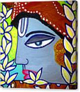 Krishna Playing Flute Canvas Print