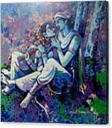 Krishna Radha Canvas Print