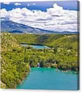 Krka River National Park Canyon Canvas Print
