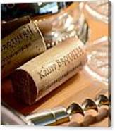 Krupp Brothers Uncorked Canvas Print