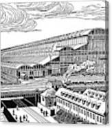 Krupp's Factory, Essen  Machine Shop Ix Canvas Print