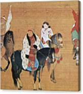 Kublai Khan Hunting Canvas Print